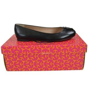 Tory Burch Claire Reva Leather Ballet Flats
